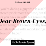 Dear Brown Eyes